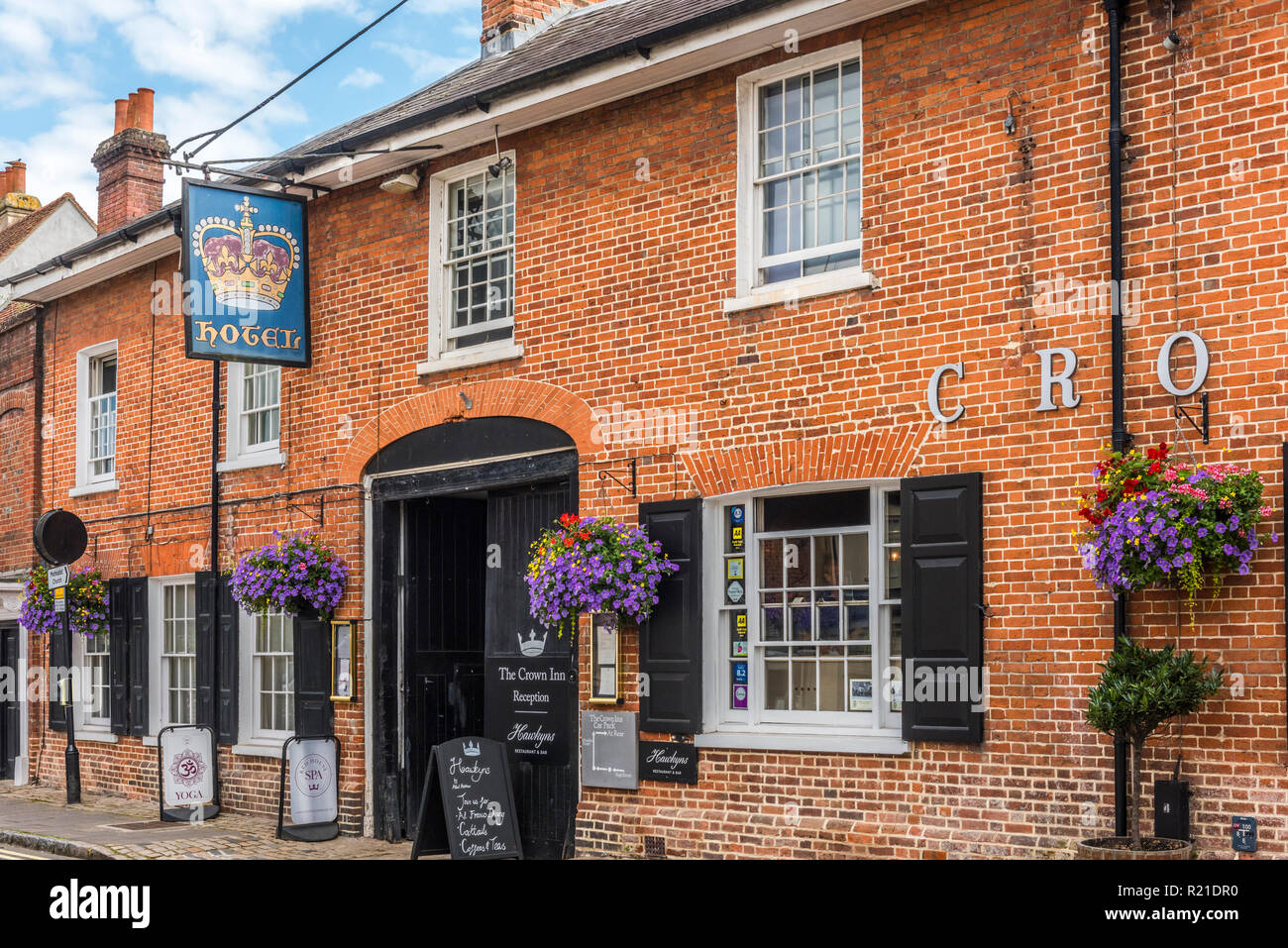 Crown Inn Hotel, Old Amersham High Street, Amersham, Buckinghamshire, England - Stock Image