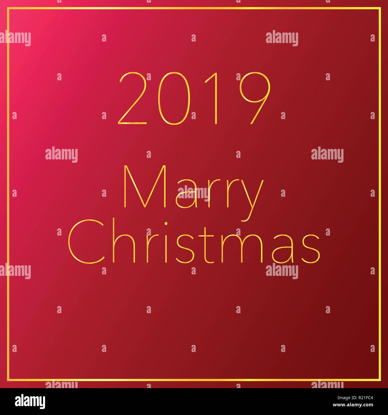 merry christmas and happy new year background holiday card 2019 red background vector illustration
