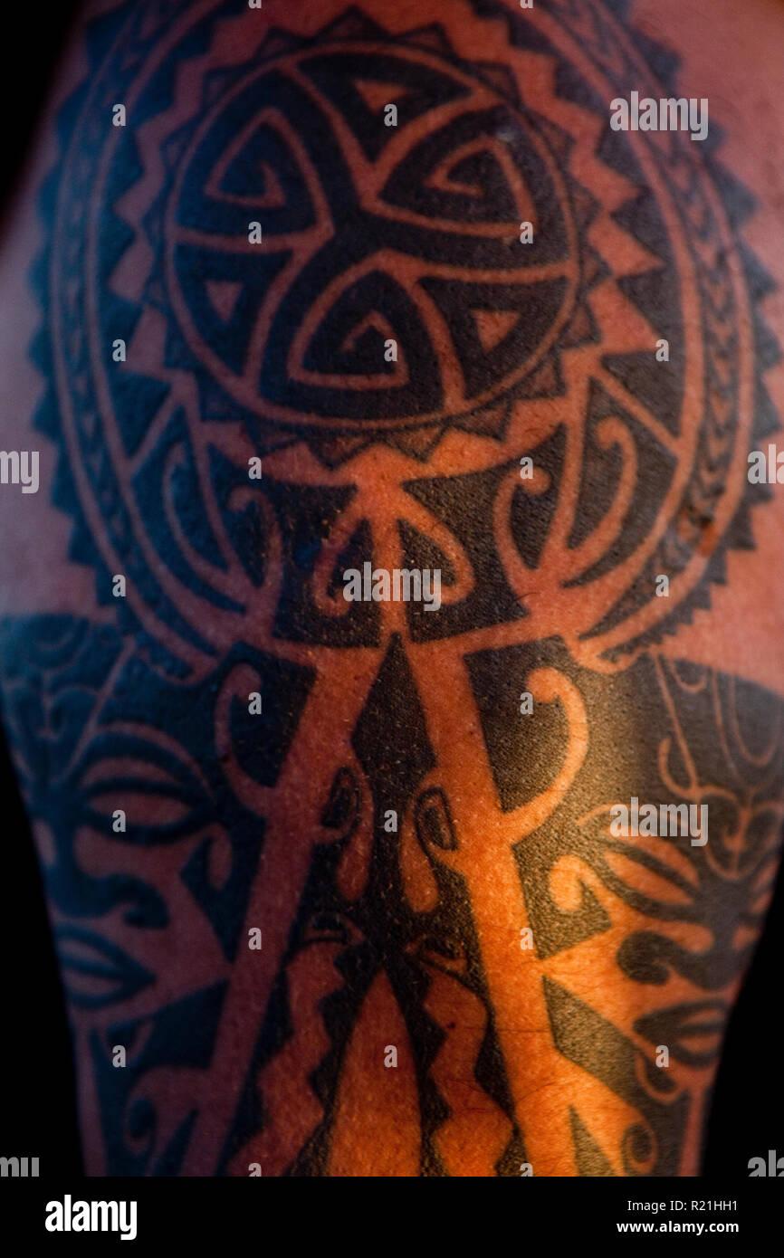 Polynesian Tattoo Stock Photos Polynesian Tattoo Stock