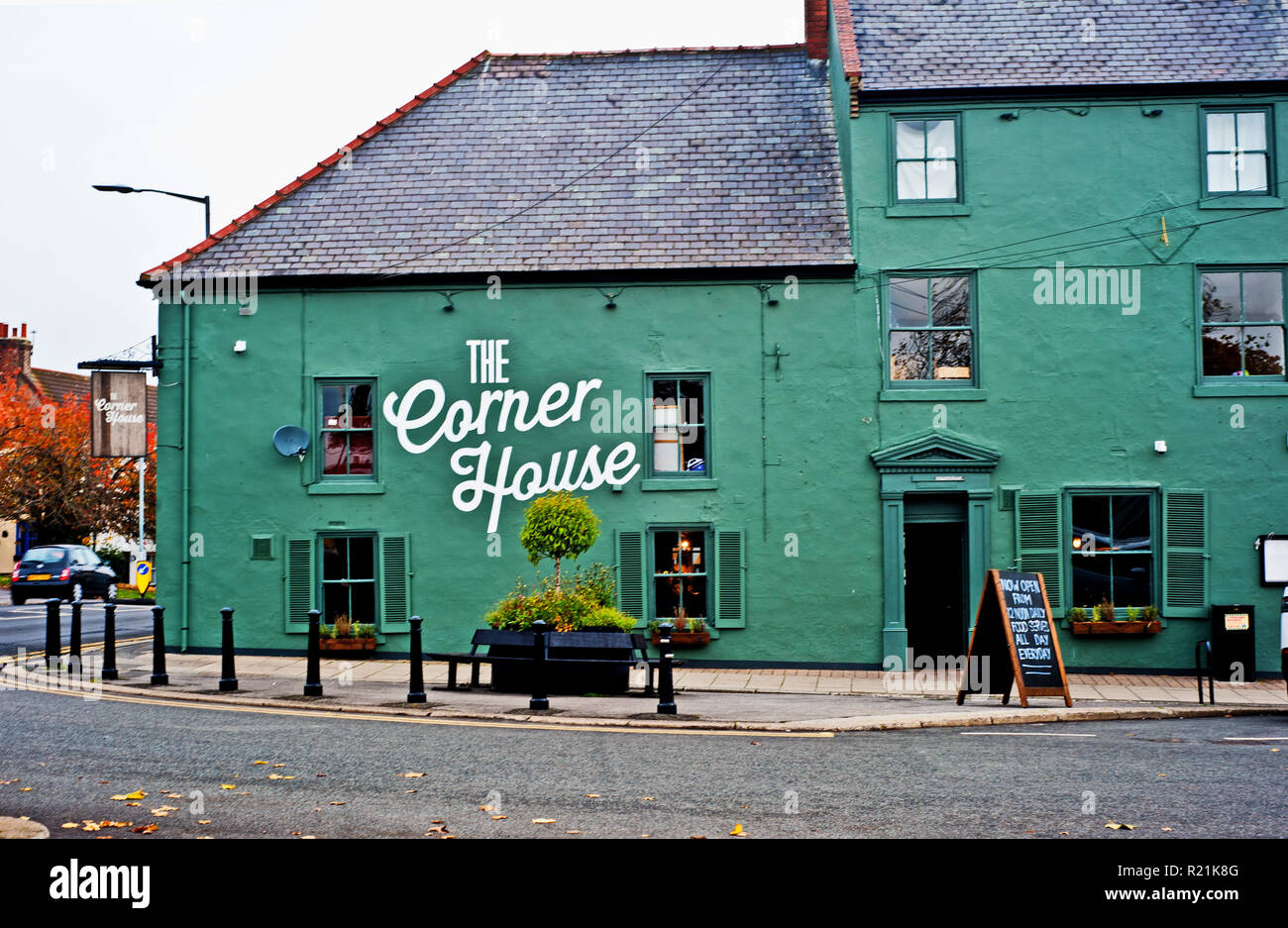 The Corner House formely the Black Lion, Sedgefield, County Durham, England - Stock Image