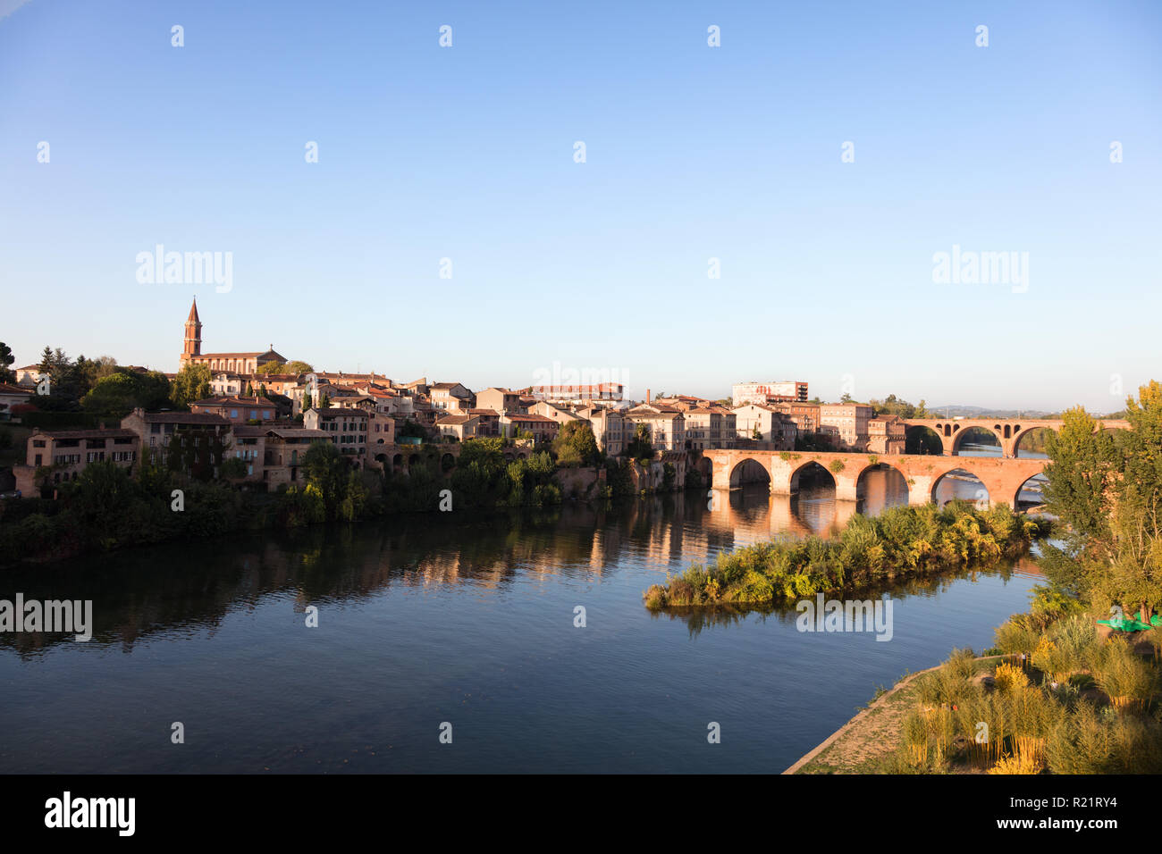 View of the banks of the Tarn, Albi, France Stock Photo