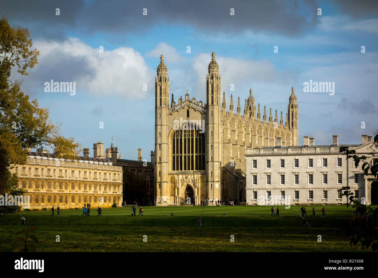 King's College Chapel, Cambridge University in the Autumn. University of Cambridge, UK Stock Photo