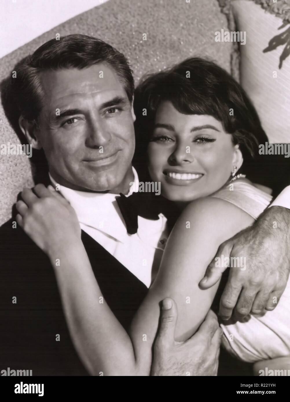 1958 American Technicolor romantic comedy VistaVision film starring Cary Grant, Sophia Loren, Martha Hyer, and Harry Guardino. Credit: Hollywood Photo Archive / MediaPunch - Stock Image
