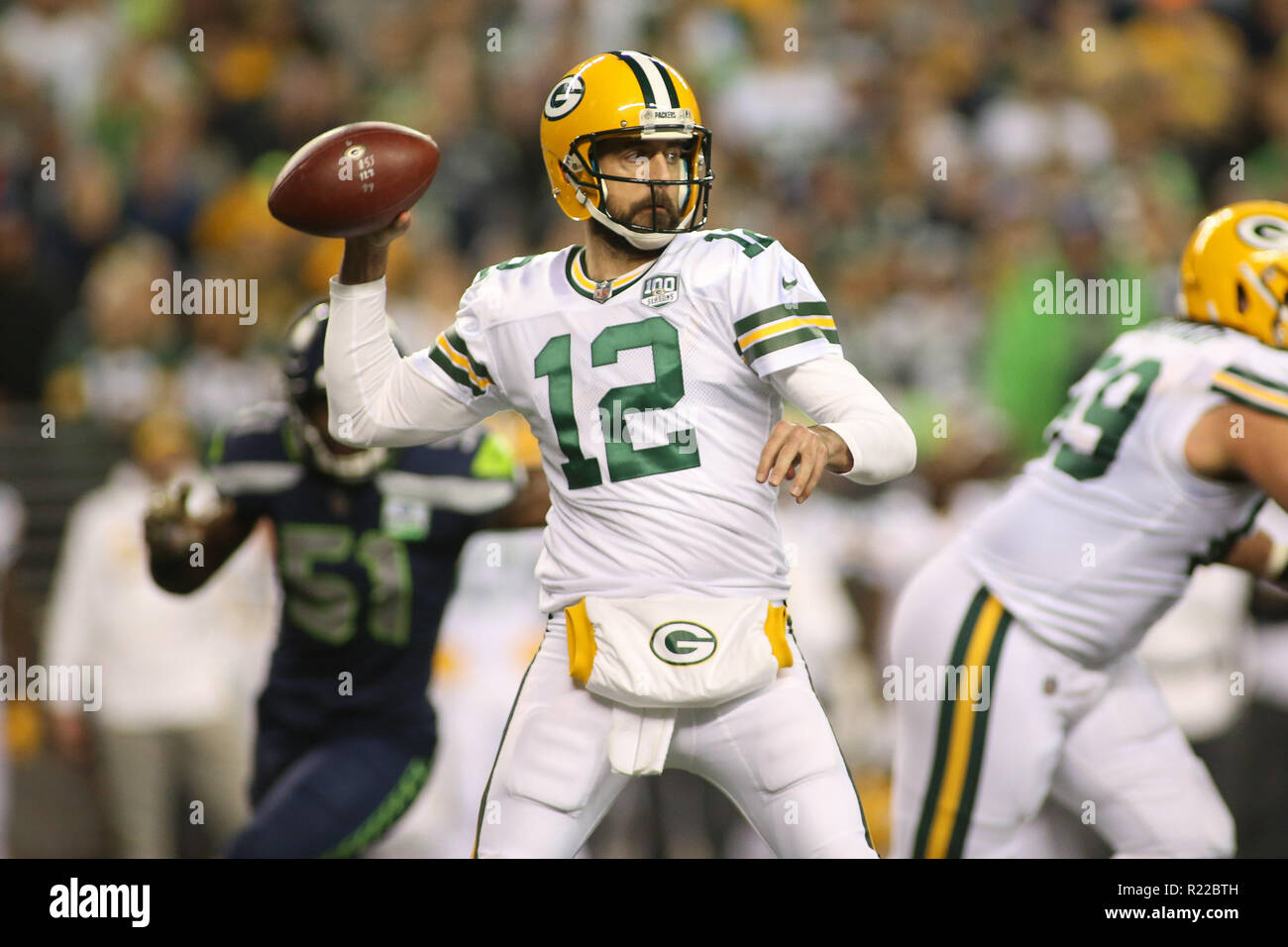 competitive price a0bf8 243aa Seattle, WA, USA. 15th Nov, 2018. Green Bay Packers ...
