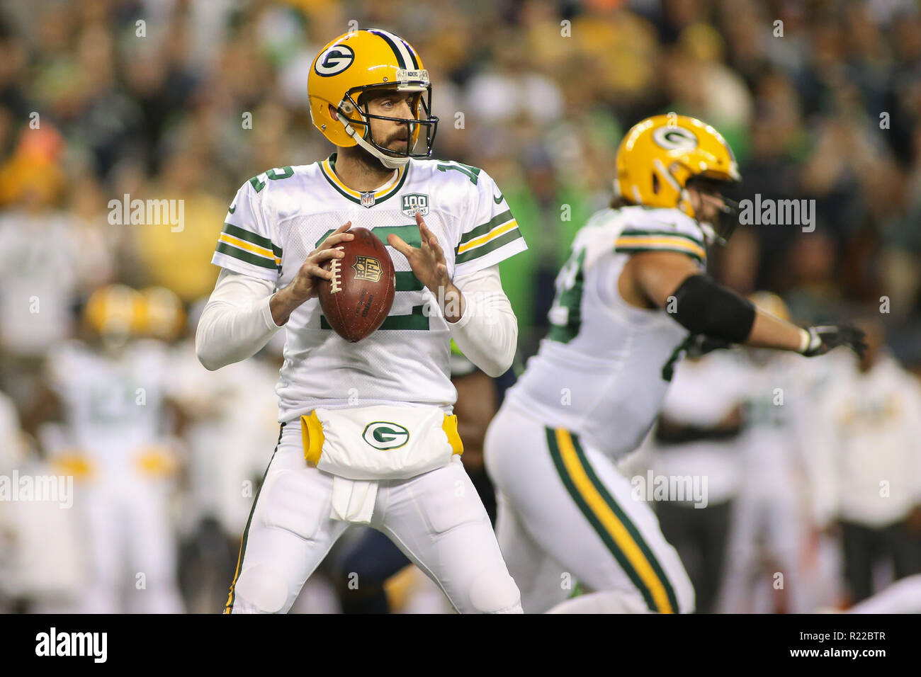 competitive price 326d3 a3506 Seattle, WA, USA. 15th Nov, 2018. Green Bay Packers ...