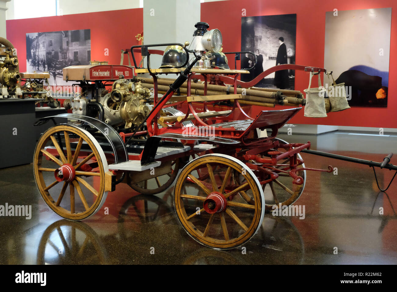 HISTORIC FIRE-FIGHTING VEHICLES - Stock Image