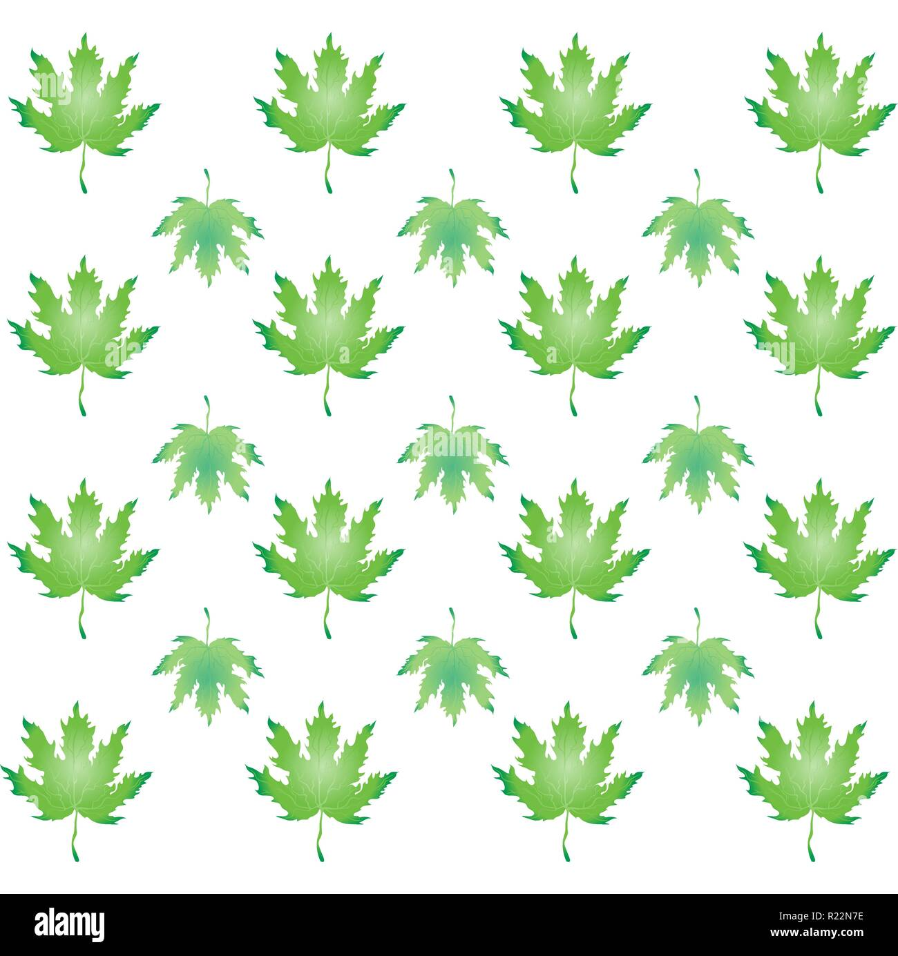 Autumn Leaves Green Pattern Falling Leafs For Print And Web Design Stock Vector Image Art Alamy