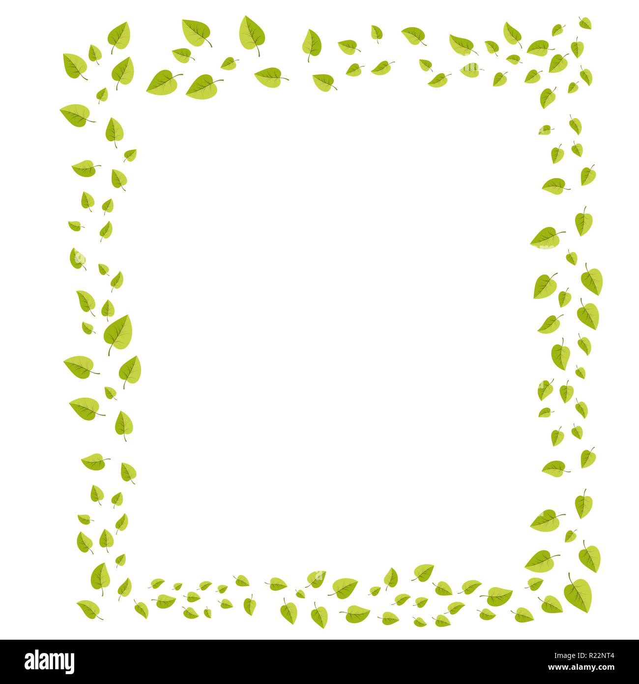 Leafs Frame For Decoration For Web And Print Illsutration Vecotor Cartoon Spring Green Leaves Stock Vector Image Art Alamy