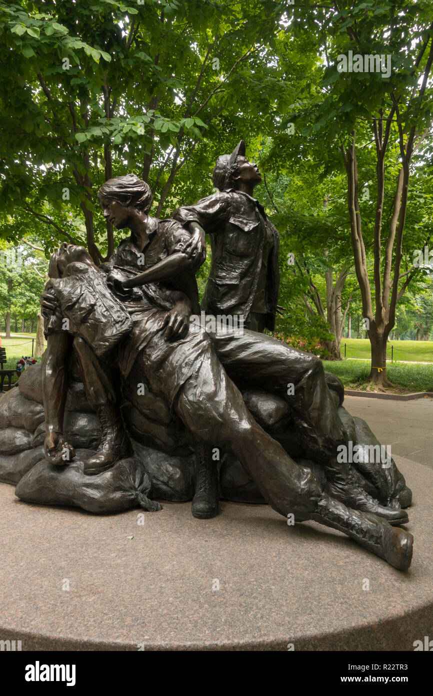 Vietnam Women's memorial Washington Dc - Stock Image