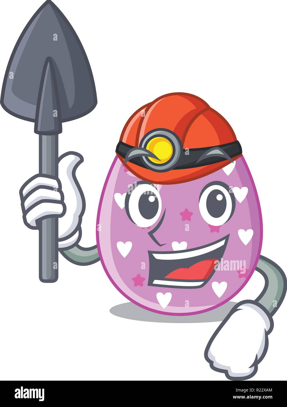 Miner eggs easter holiday character for spectacle - Stock Vector