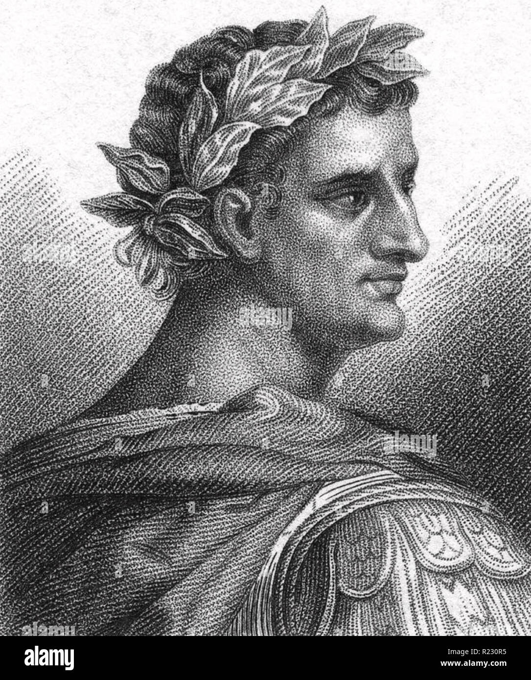 CLAUDIUS (10 BC-54 AD) early 19th century engraving - Stock Image