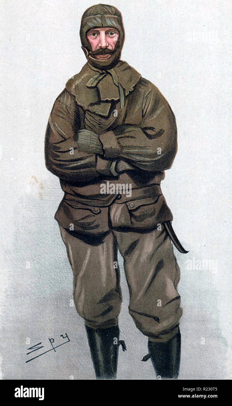 FREDERICK JACKSON (1860-1938) English Arctic explorer in a cartoon by Spy for Vanity Fair in 1897 - Stock Image