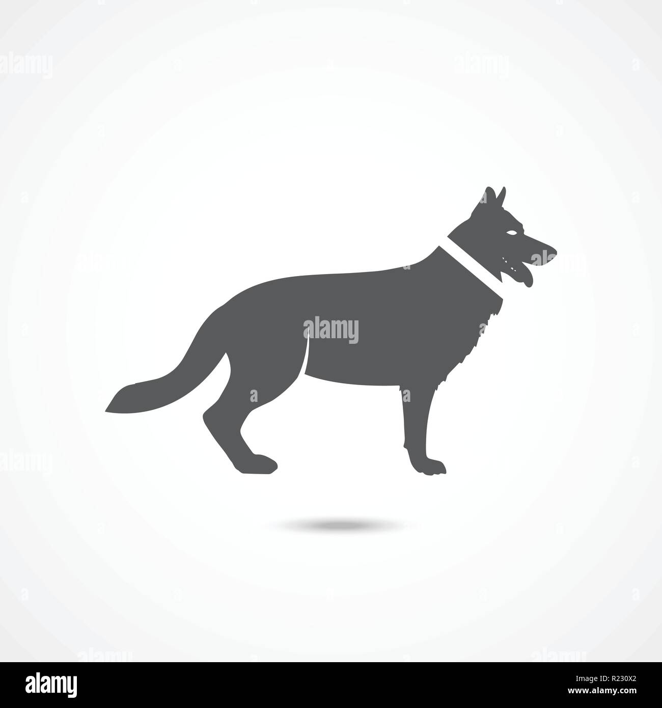 German Shepherd icon - Stock Vector