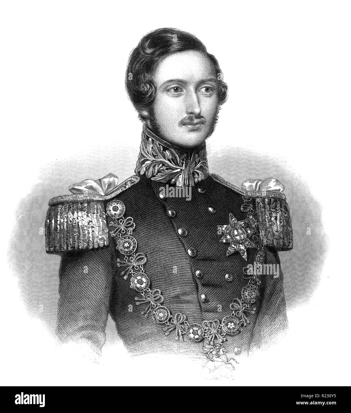 ALBERT, PRINCE CONSORT (1819-1861) husband of Queen Victoria about 1840 - Stock Image