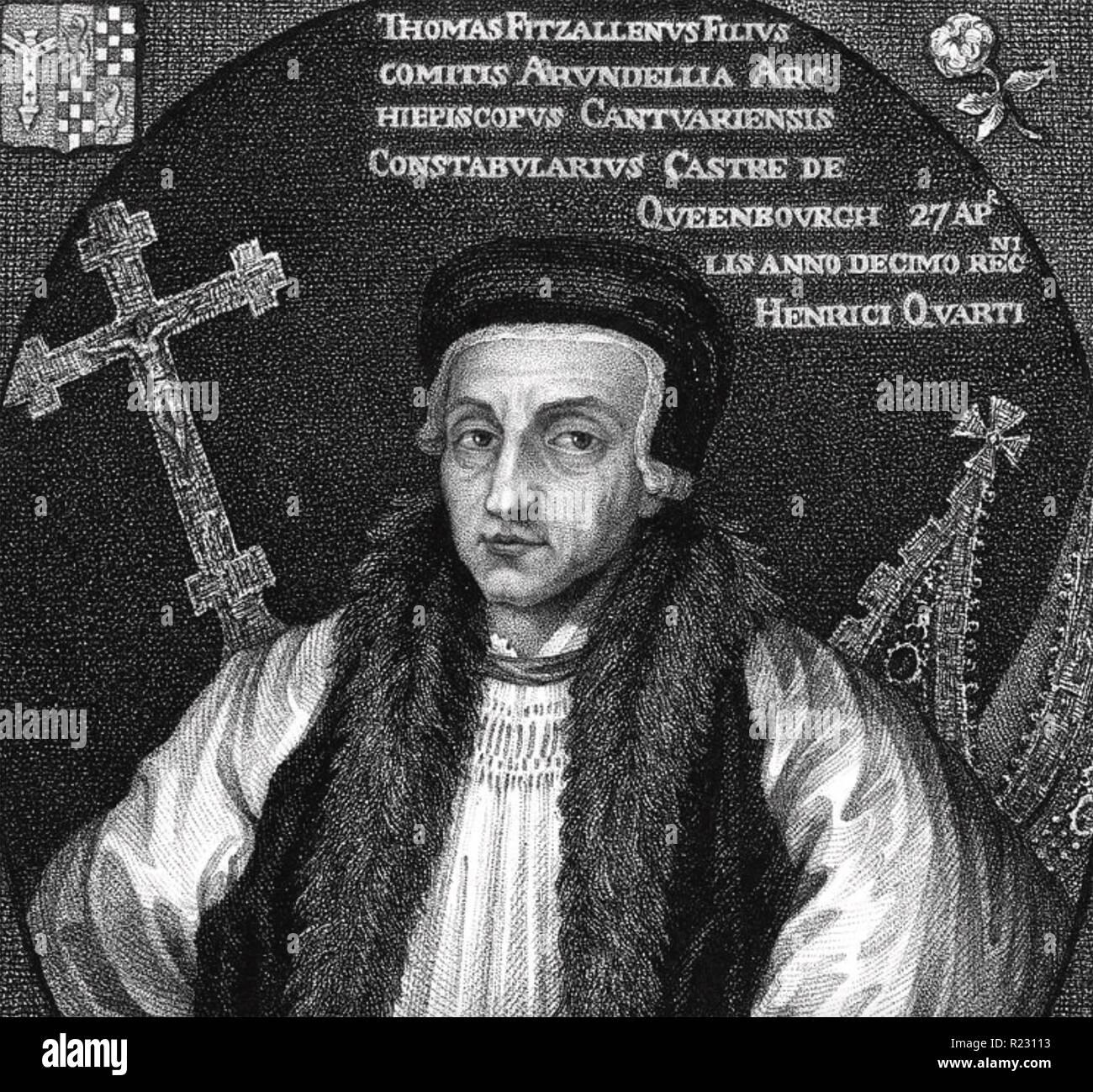 THOMAS ARUNDEL (1353-1414) Archbishop of Canterbury - Stock Image