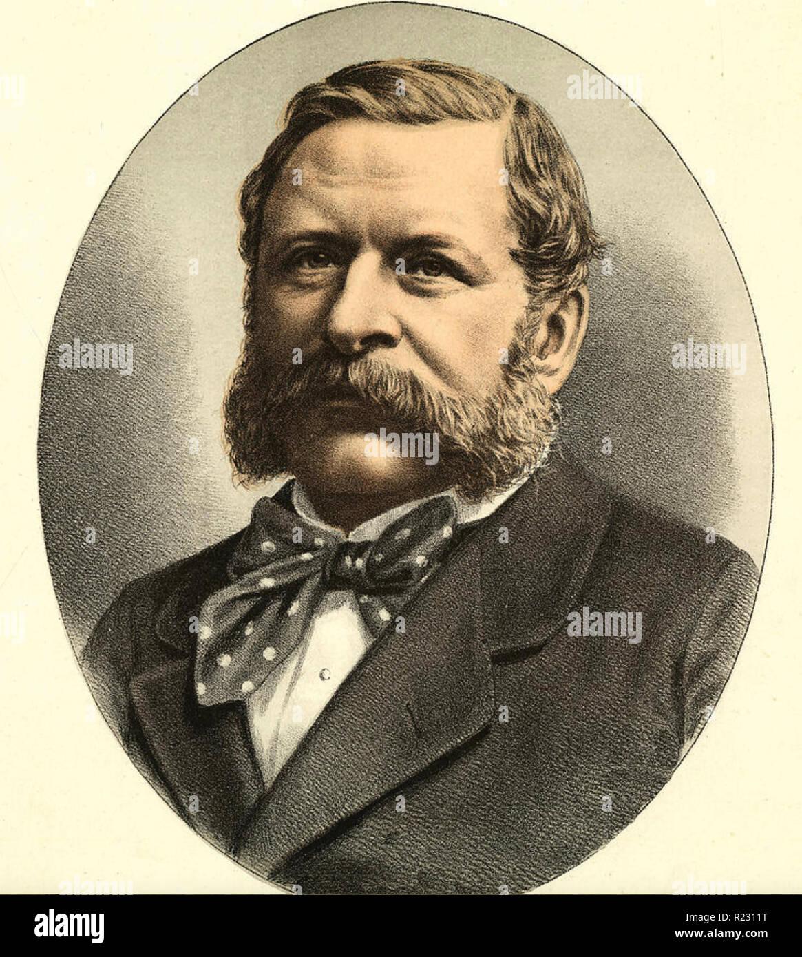 WILLIAM WADDINGTON (1826-1894) Prime Minister of France - Stock Image