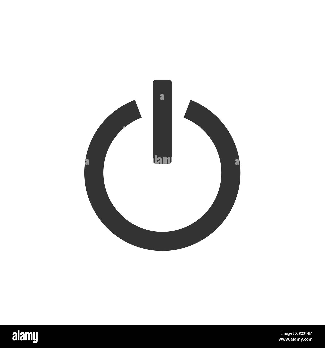 Shutdown icon, power icon, on off sign. Vector illustration Flat - Stock Vector