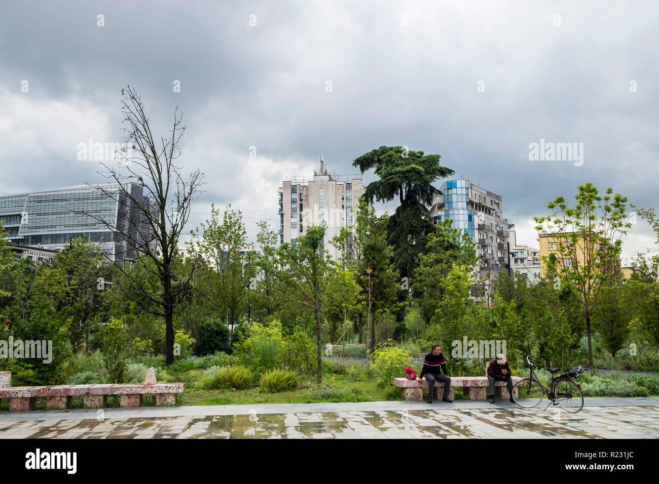 Albania, Tirana, daily life - Stock Image