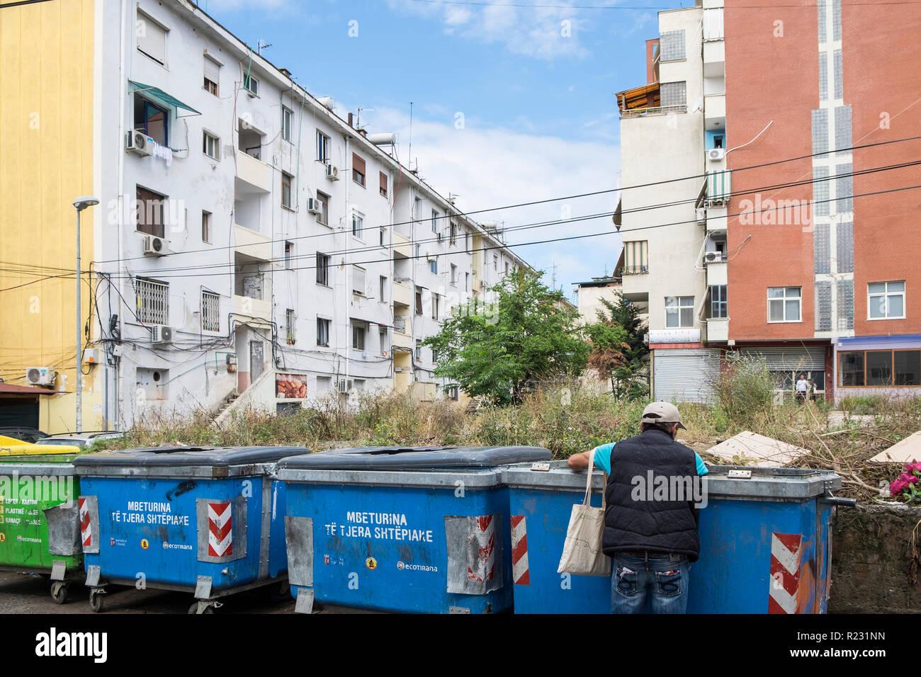 Albania, Tirana, public housing - Stock Image