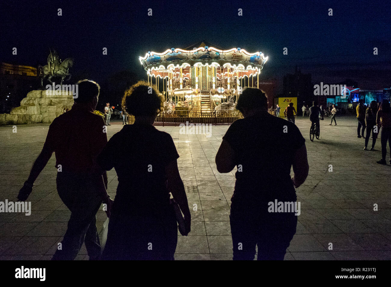 Albania, Tirana, nightlife - Stock Image