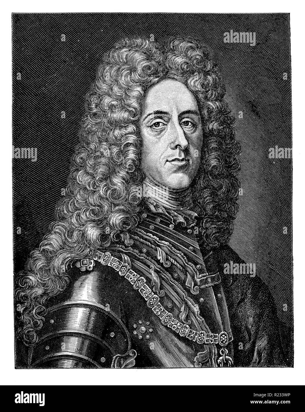 Eugen Franz, Prince of Savoy-Carignan <1663-1736> called Prinz Eugen, Matthäus Merian  1899 Stock Photo