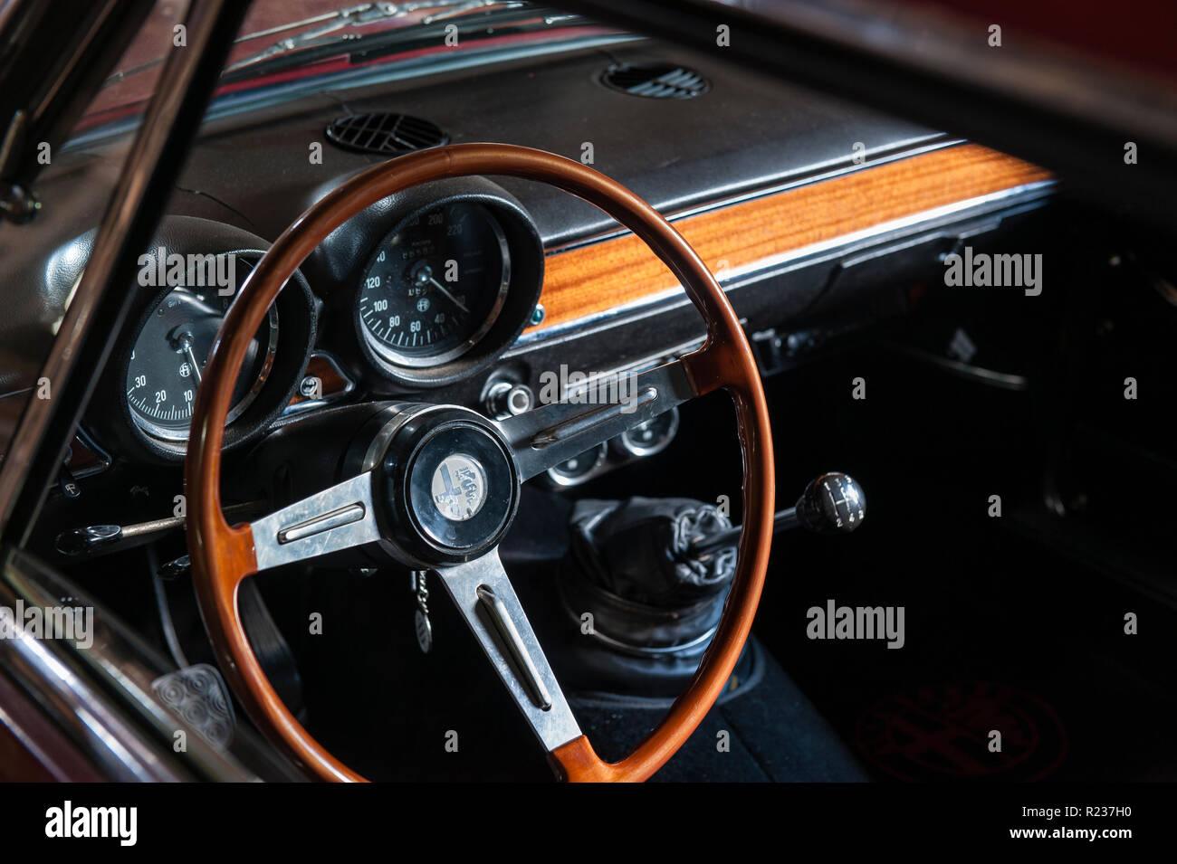 Steering Wheel Interior Alfa Romeo Stock Photos Gt Junior Classic Car Image
