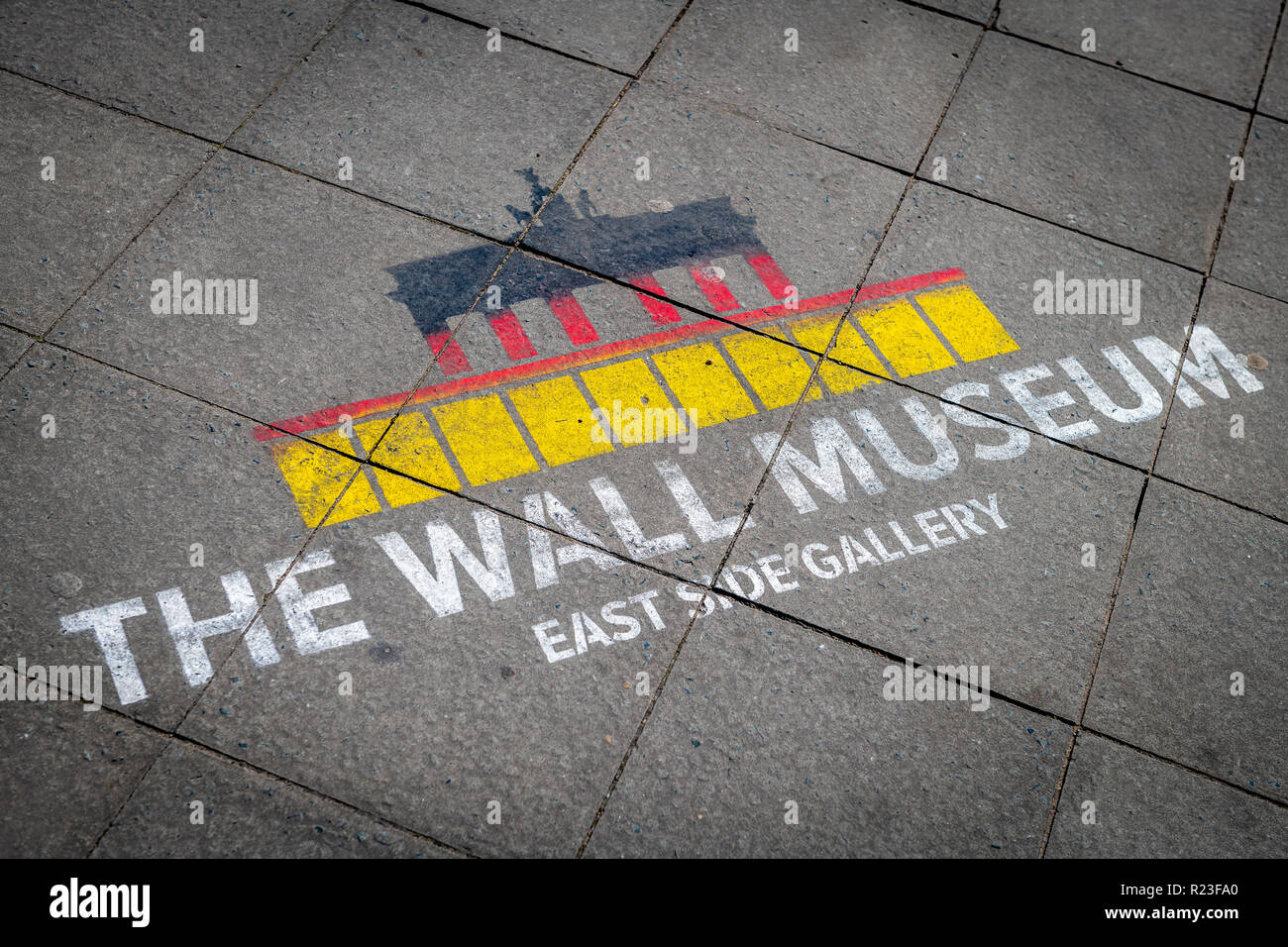The Wall Museum - East Side Gallery, Berlin, Germany - Stock Image