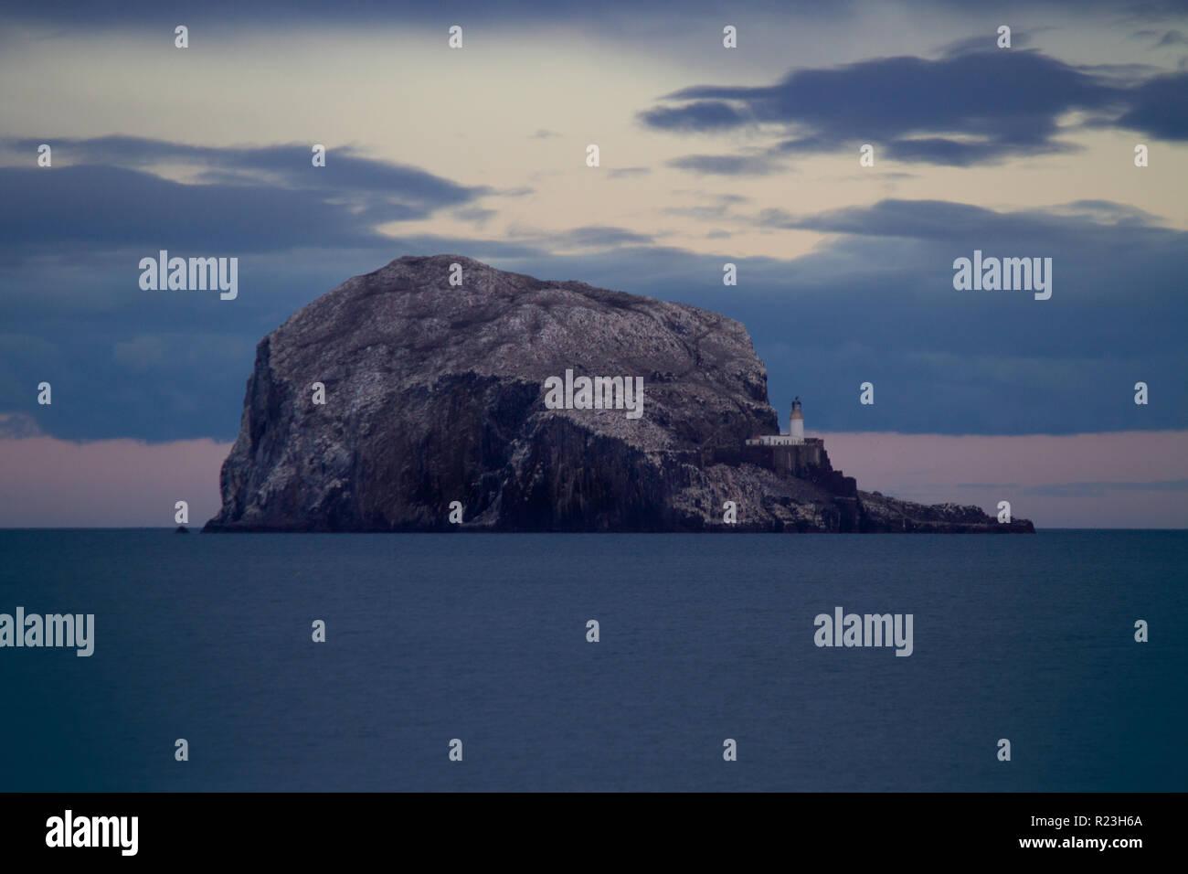 Close-up of Bass Rock, East Lothian Scotland Stock Photo