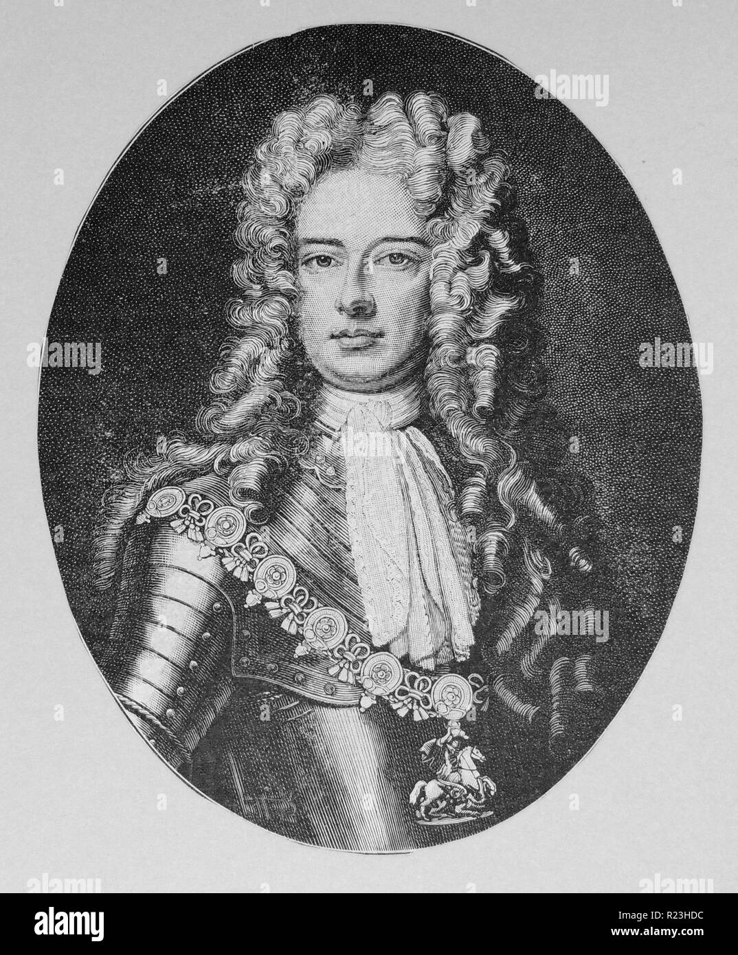 John Churchill 1st Duke of Marlborough (1650-1722) English soldier. In supreme command of British and Dutch forces during the War of the Spanish Succession (1701-1714). - Stock Image