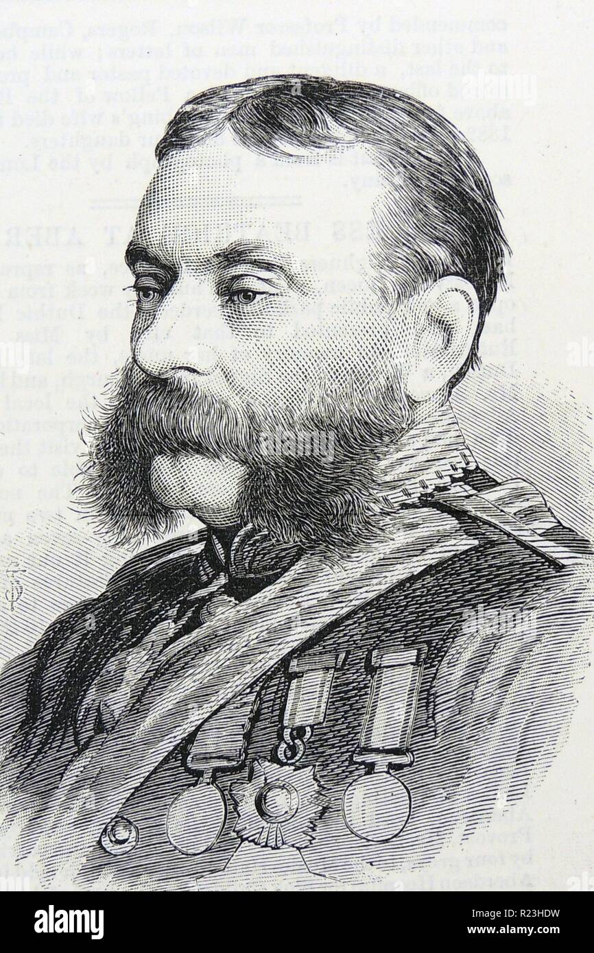 Henry Berkeley Fitzhardinge Maxse (1832-1883) British colonial soldier. Governor of Newfoundland from 1881. Stock Photo