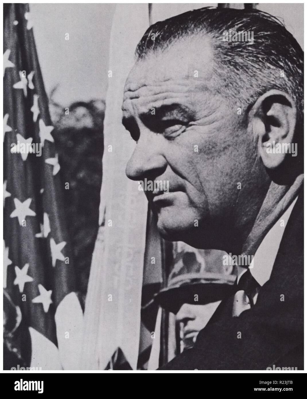 Lyndon Baines Johnson President of the USA 1963-1969 - Stock Image