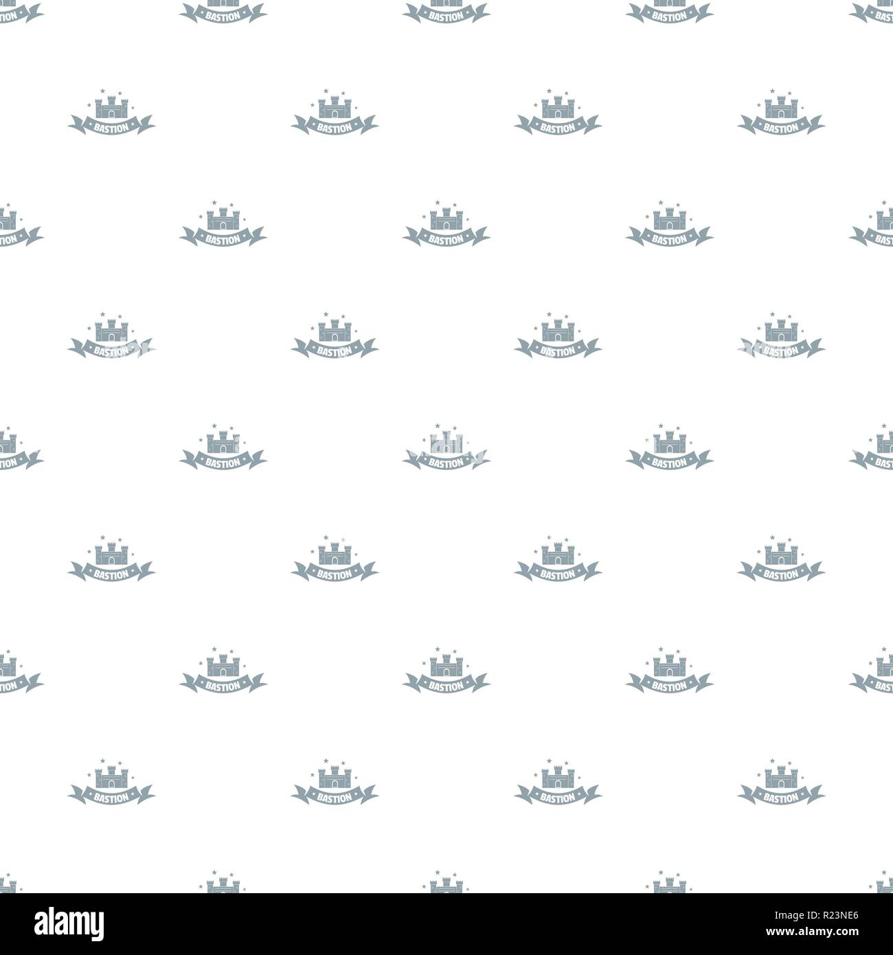 Building bastion pattern vector seamless - Stock Vector