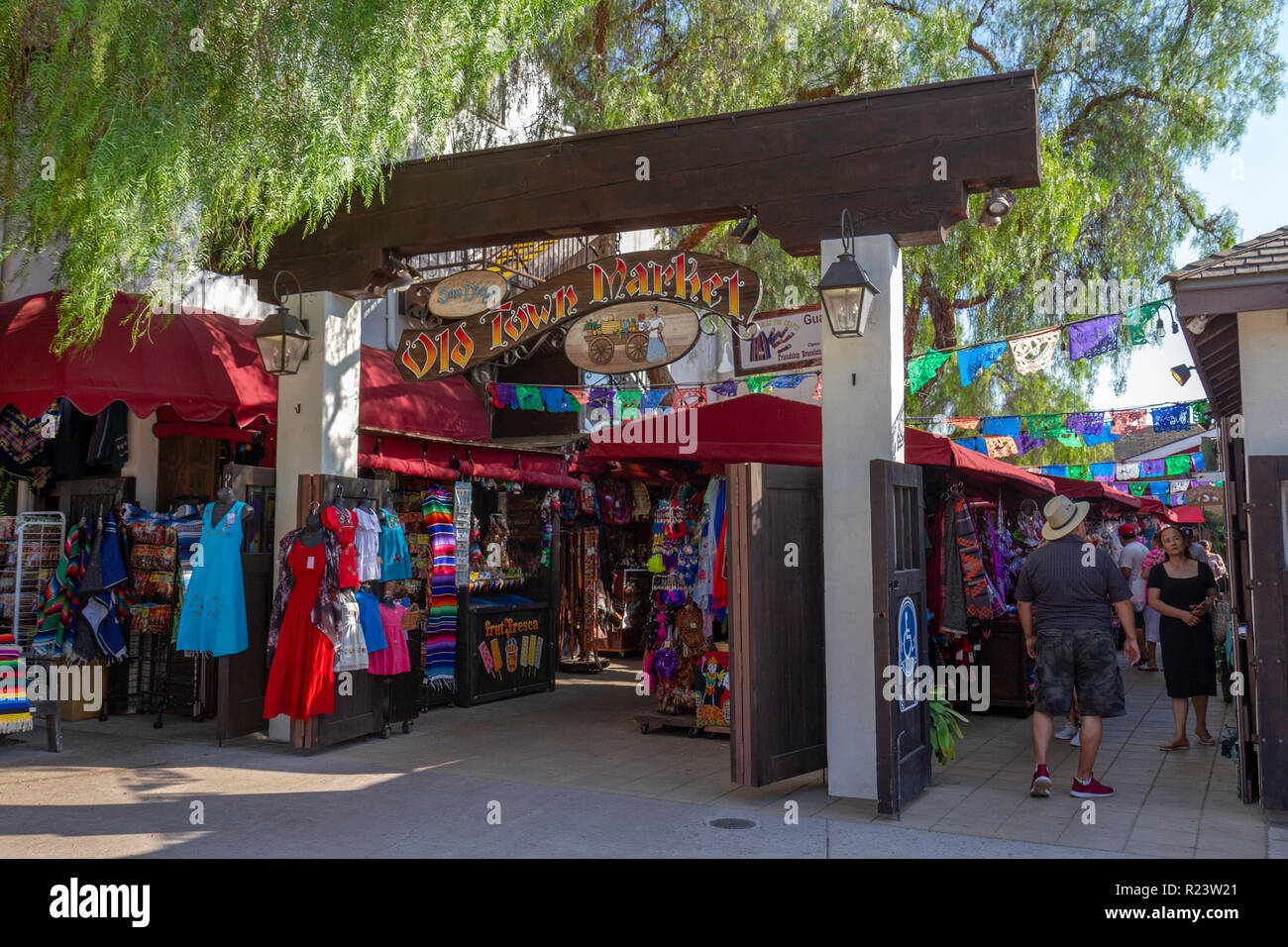 Entrance To The Old Town Market Old Town San Diego State Historic Park San Diego California United States Stock Photo Alamy