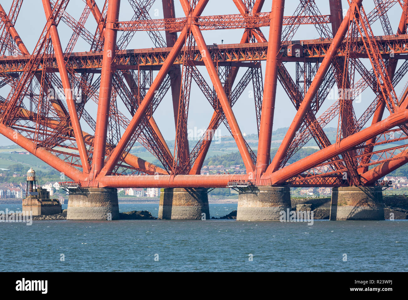 Construction detail Forth Bridge over Firth of Forth in Scotland ...