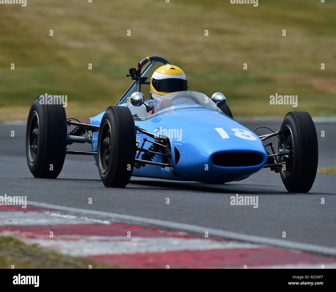 Philippe Bonny, Brabham BT2, HGPCA Pre66, Historic Grand Prix Cars, HSCC Legends of Brands Hatch Super Prix, June - July 2018, 2018, Autosport, Brands - Stock Image