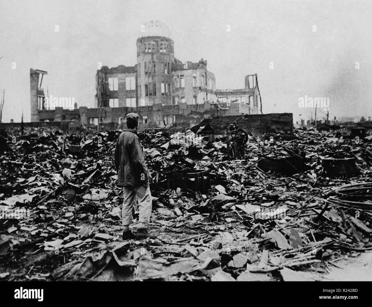 World War II, after the explosion of the atom bomb in August 1945 Hiroshima, Japan Stock Photo