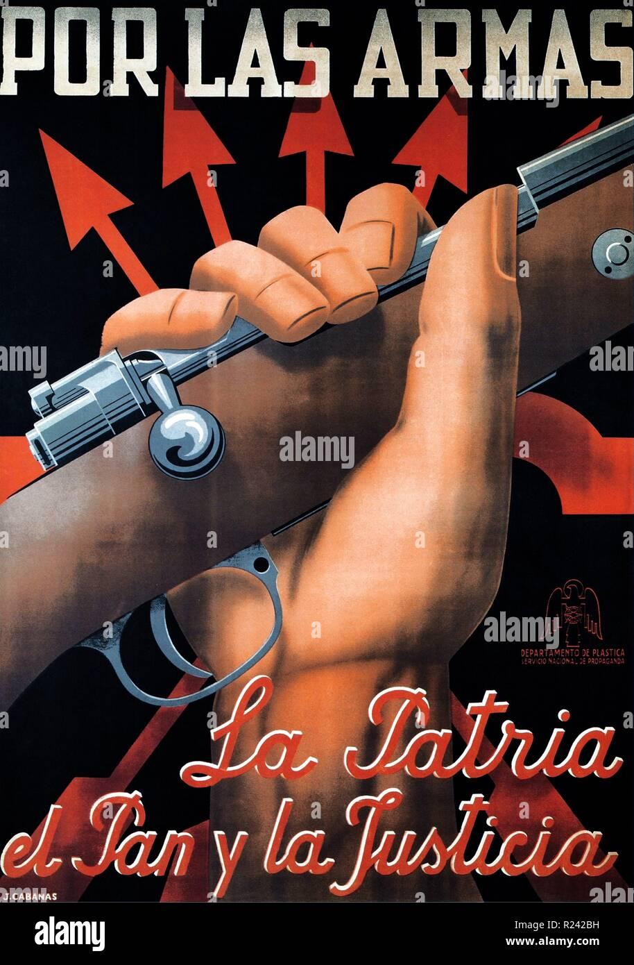 Spanish civil war nationalist (francoist) poster 1937 Stock Photo