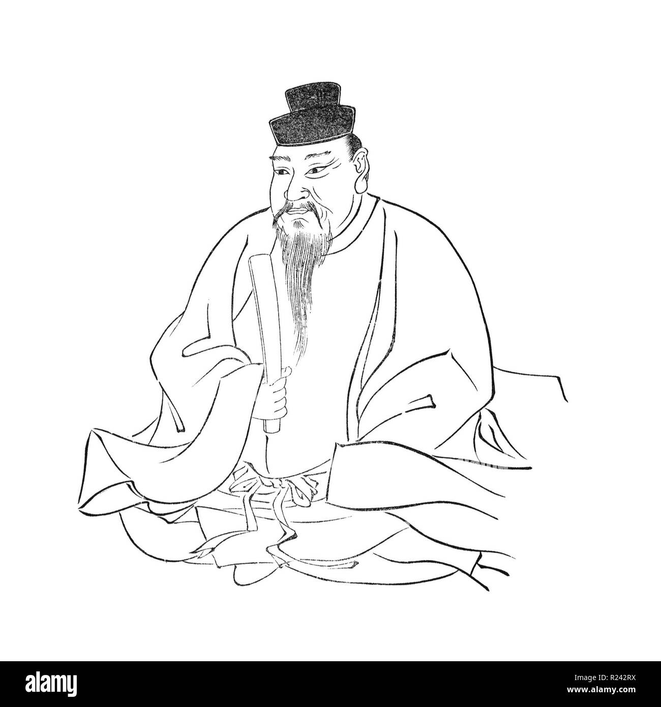 Emperor Ojin (the 15th Emperor of Japan); reigned from 270 to 310 - Stock Image