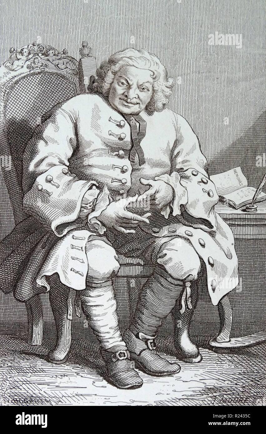 Engraving By British Artist Engraver William Hogarth 1697 1764 Simon Fraser