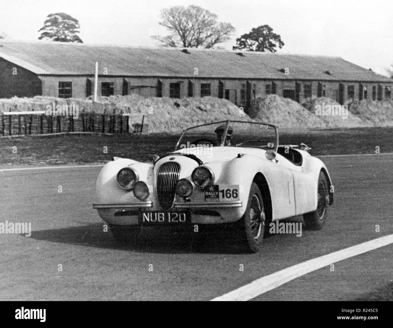 Jaguar XK120, Ian Appleyard 1953 RAC Rally - Stock Image