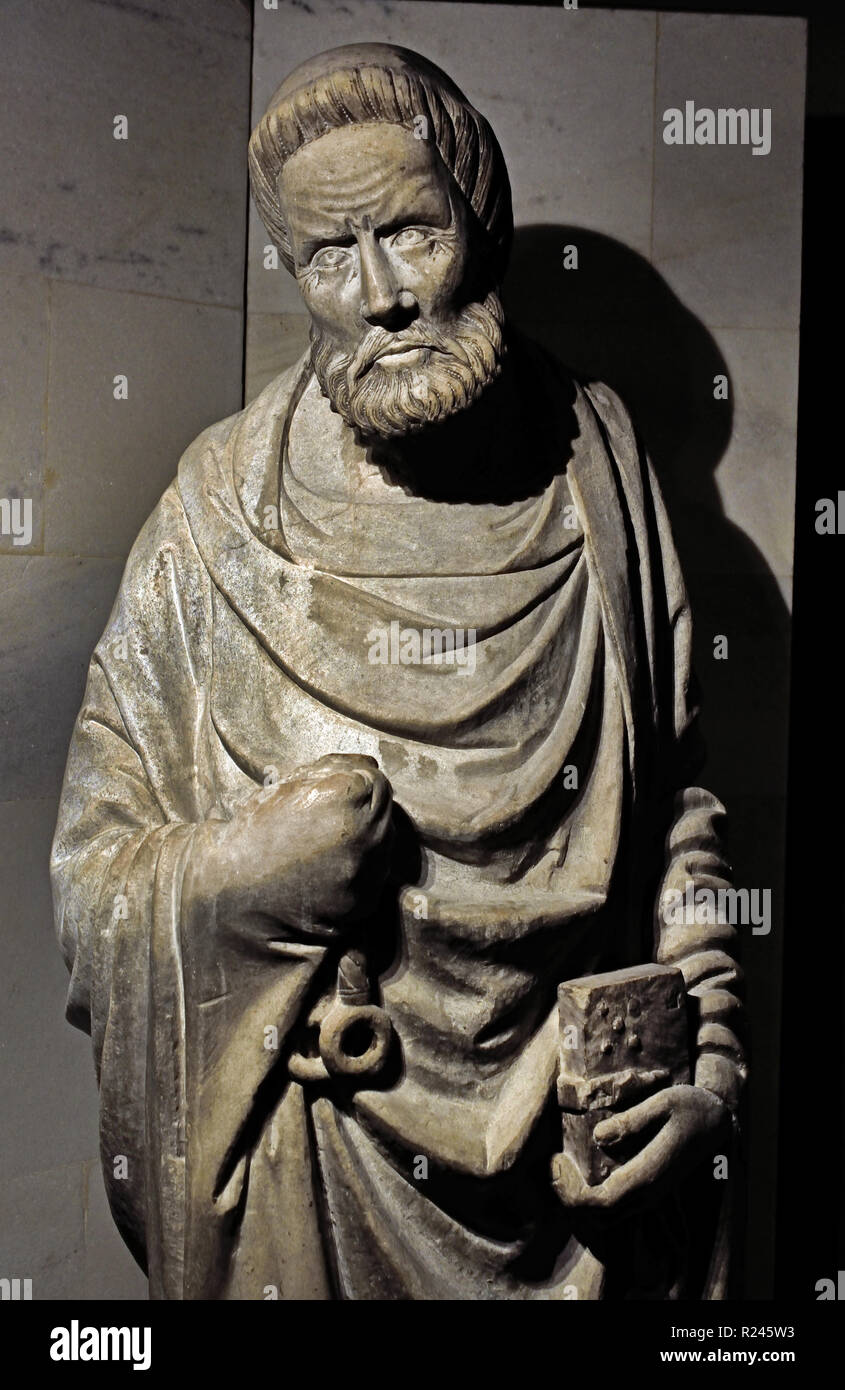 San Pietro - St Peter 14th Century Museum - Milan Cathedral (Duomo di Milano) Italy, Italian. - Stock Image