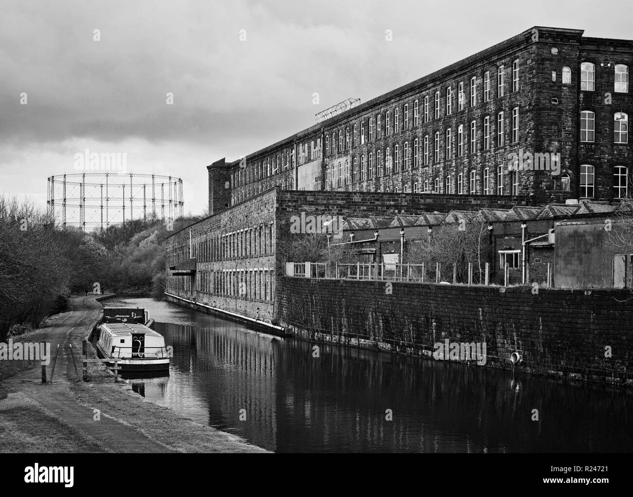 A traditional industrial landscape at Brierfield, Lancashire - Stock Image
