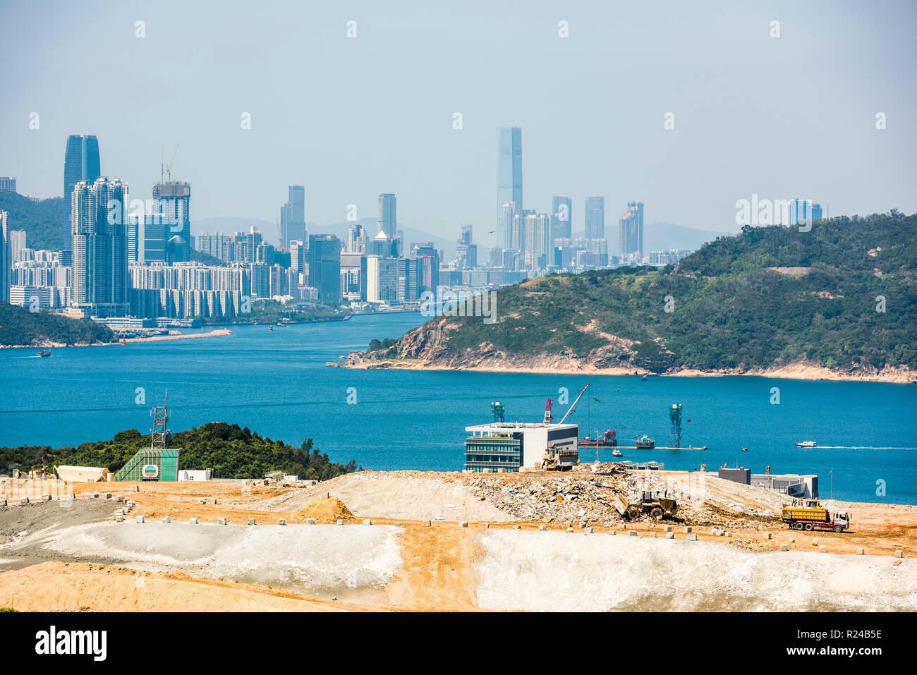 Landfill site, Kowloon, Hong Kong, China, Asia - Stock Image