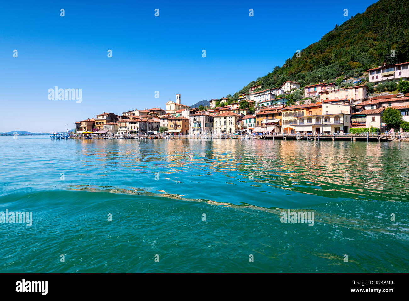 Peschiera Maraglio, Monte Isola, the largest lake island in Europe, Province of Brescia, Lombardy, Italy, Europe - Stock Image
