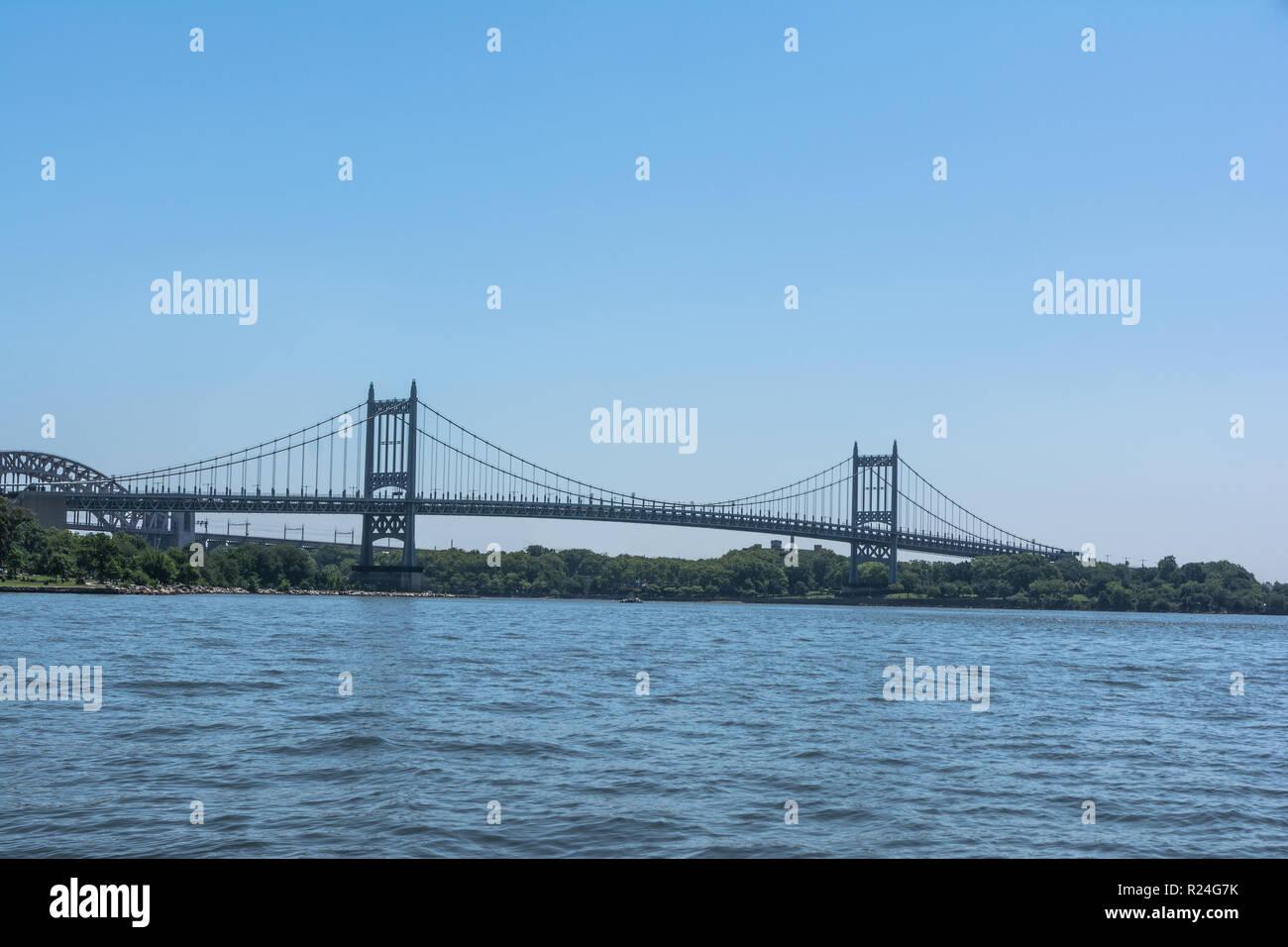 RFK Triborough Bridge over the East River, NYC - Stock Image