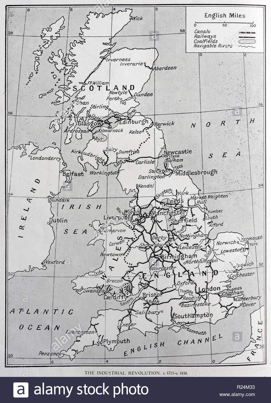 Uk Industrial Revolution Map C1715