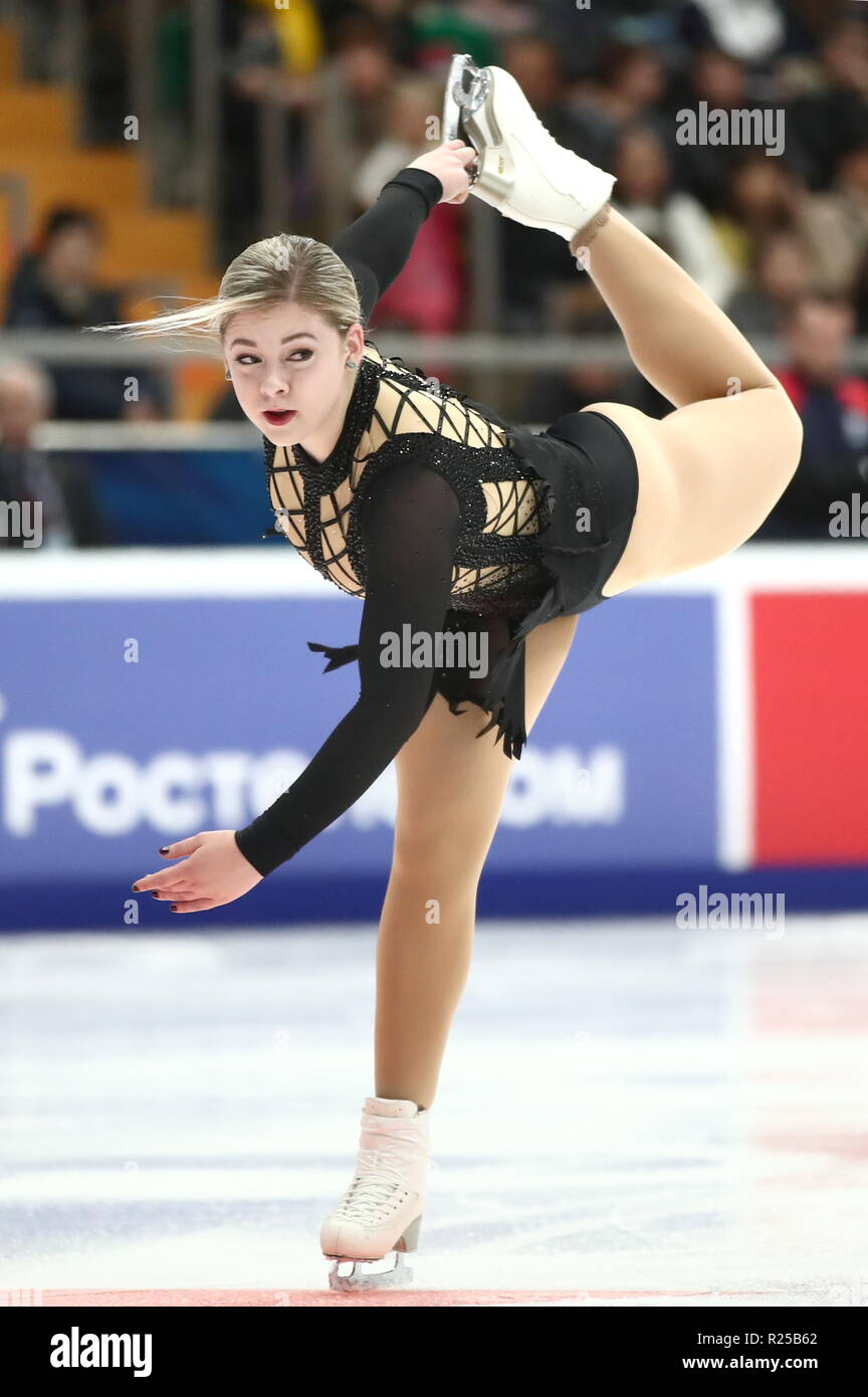 MOSCOW, RUSSIA - NOVEMBER 16, 2018: Gracie Gold of the ...