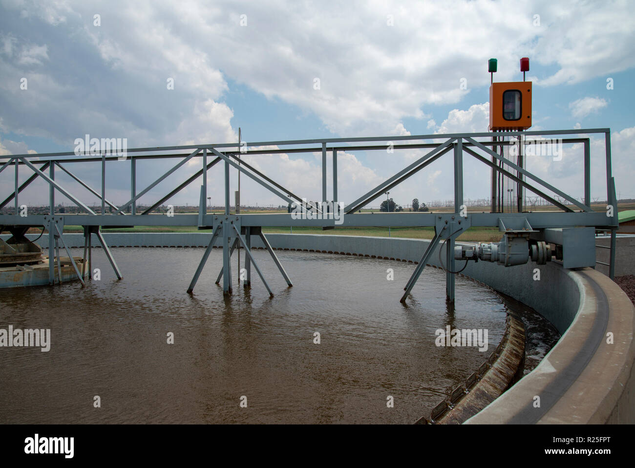 A water treatment plant in Witbank, South Africa  This image