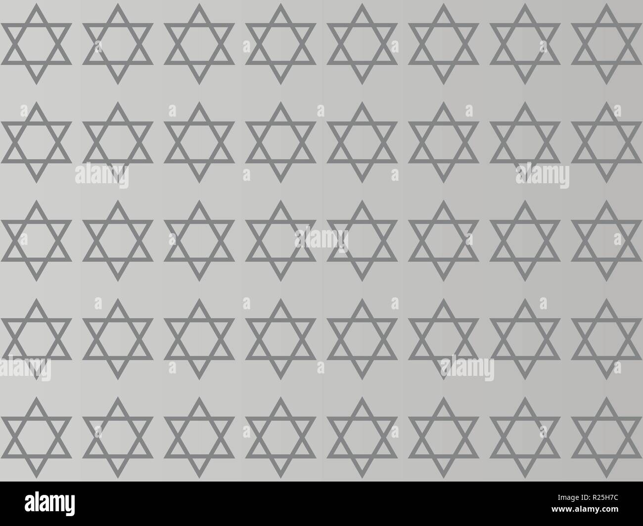 Star of David on a gray background - Stock Vector