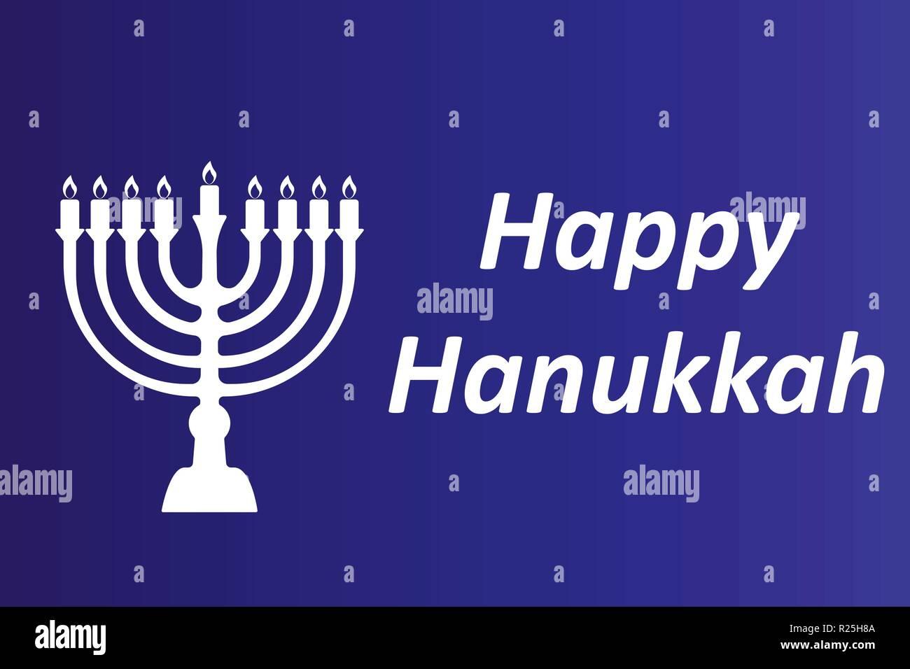 Hanukkah Typographic Vector Design - Happy Hanukkah. A - Stock Vector